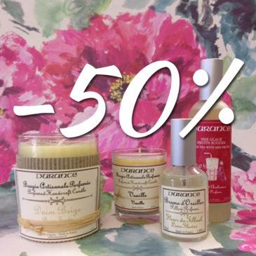 -50% sur les produits Durance